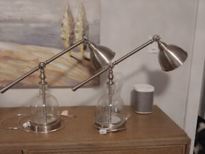 2 Matching Table/Desk Lamps - Vintage Style