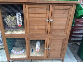 Large two story Rabbit/Guinea pig hutch