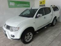 WHITE MITSUBISHI L200 2.5 DI-D 4X4 BARBARIAN LB DCB ***FROM £52 PER WEEK***