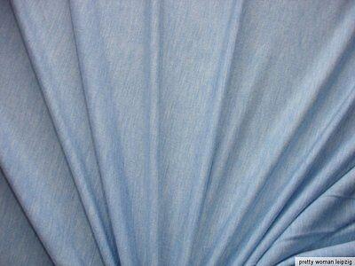 1 Lfm Jersey 2,95€/m² helles jeansblau meliert 148cm breit KA11