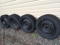4 snow tires with rims Toyota Corolla matrix vibe