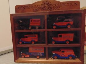 J.M. Schneider Delivery car Set Centennial collection Wooden Dis