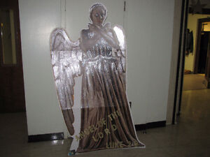 weeping angel cardboard cutout