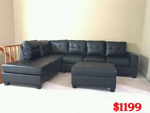 BRAND NEW TWO PIECE SECTION SOFA W/OTTOMAN Free Delivery In GTA