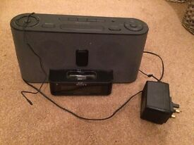 Sony iPod / iPhone music dock and speakers with alarm clock