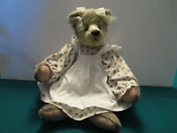 Girly Teddy Bear in Willow Chair