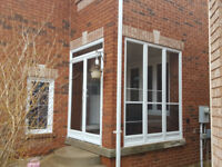 Front Porch Glass Enclosure Main entrance storm door Mississauga