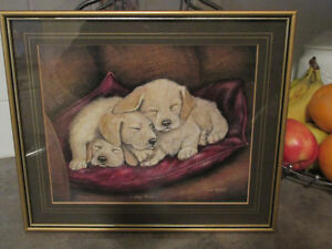 Dog Tired (Labrador puppies) - Print by Dick Twinney So Cute!!