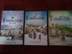 3 Emmerdale Hardback Books.