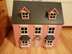 Beautiful wooden dolls house