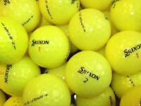 Srixon Z Stars x 40. Yellow Pearl Condition
