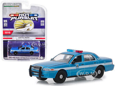 2010 FORD CROWN VICTORIA INTERCEPTOR SEATTLE POLICE 1/64 CAR GREENLIGHT 42880 D