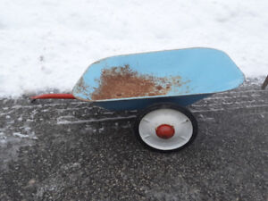 Tri Ang Line Brothers antique pressed toy trailer