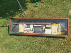 fishing vintage display box