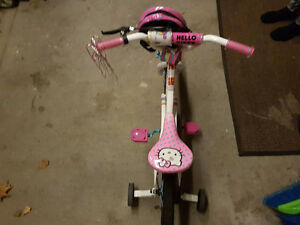 HELLO KITTY BIKE 4 SALE!!! Training Wheels included!