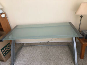 Iron glass table