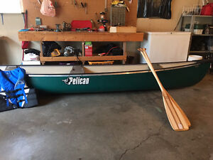 Brand new pelican canoe life jackets and 2 paddles