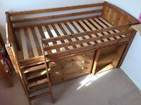 Mid Sleeper Cabin bed - Pine