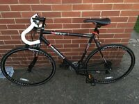 OPEN FOR OFFERS -Redemption X Road Gents 56cm 700c Wheel 14 Speed Matt Black Racing Bike