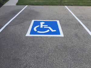 PARKING LOT LINE PAINTING AND PAVEMENT MARKINGS Cambridge Kitchener Area image 3