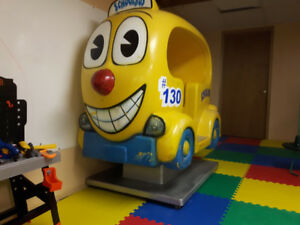 kiddie ride brand school bus ride on coin operated big bus