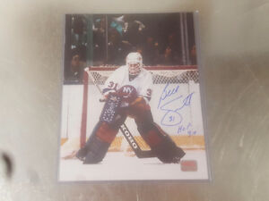 Billy Smith Autographed New York Islanders 8x10 Autograph AUTHEN