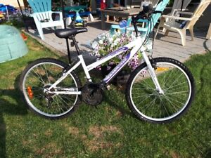 girls mountain bike - used less than 10 times - new last fall