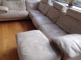 Archibald's 6 seater leather sofa