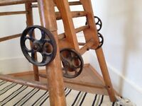 Vintage antique Childs high chair /table , metamorphic