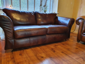 Fantastic leather jon Lewis sofa