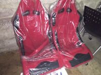 Brand New Universal Fit Bucket Seats - would suit Corsa Honda MG BMW Rally Car Track Car