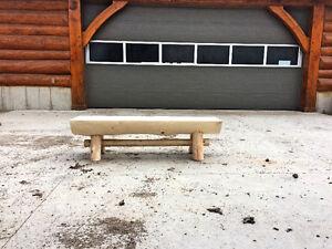 Live edge wood benches