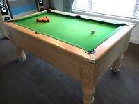 6ft Pool Table, Slate Bed (5.3 x 2.7 ft Playing Area)