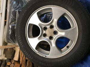 """215/60 R16 Nokian """"all season"""" tires for sale + Mags for Subaru"""