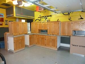 CUSTOM MADE OAK KITCHEN WITH COUNTERTOPS