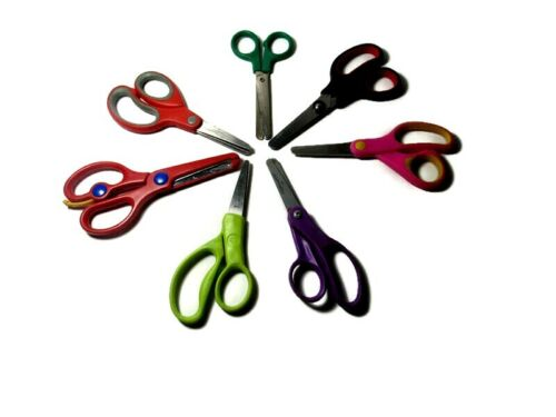 School Scissors Lot Paper Craft Fabric Bazic Schoolworks Westcott Fiskars Kids