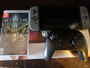 Nintendo Switch with Pro Controller and Diablo 3