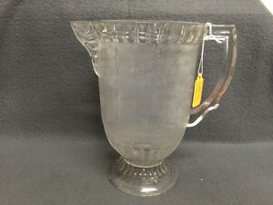 Collectible Antique Wood Grain Etched Glass Pitcher London Ontario image 1