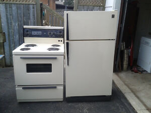 GE fridge AND stove