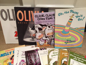 Olivia, Dr. Seuss,Purple crayon, Frog and Toad and Robert Munsch
