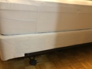 New Simmons Queen size Box Spring and Bed Frame