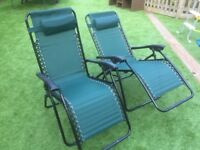 Pair of NEW gravity loungers