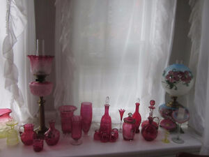 Antique Oil Lamps and Cranberry Glass Collection for Sale Kitchener / Waterloo Kitchener Area image 5