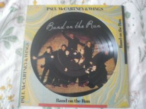 Picture Disc Vinyl BEATLES WINGS Paul McCartney Band On The Run