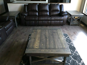 Harvest wood coffee and end tables - custom built