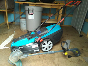 Electric Lawn Mower and Wipper Snipper