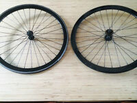 Pair de roue Fixed gear Noir