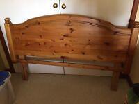 King size wooden headboard - free