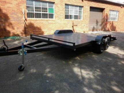 car trailer new 15x6'6 with beaver tail