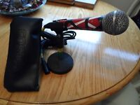Shure SM58 Mic, short stand, XLR cable and case